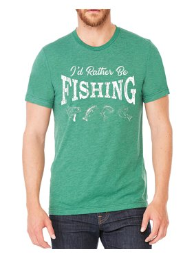 8940b335 Product Image Men's I'd Rather Be Fishing Green Tri Blend T-Shirt C2 Small  Green