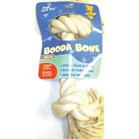 Xx Large Dot (Booda Products-2 Knot Rope Bone Dog Toy- White Xx Large)