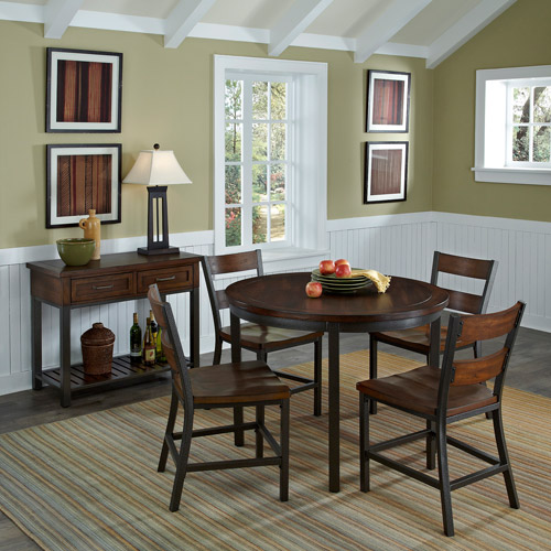 Home Styles Cabin Creek 5-Piece Dining Set, Chestnut