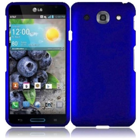 Rubberized Blue Snap - LG OPTIMUS G PRO E980 SOLID BLUE RUBBERIZED COVER SNAP ON HARD CASE + SCREEN PROTECTOR from [ACCESSORY ARENA], High quality construction provides stiffness and.., By HR WIRELESS,USA
