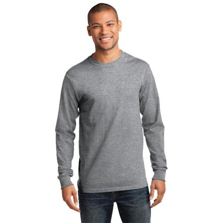 Port & Company® - Tall Long Sleeve Essential Tee. Pc61lst Athletic Heather Xlt - image 1 de 1