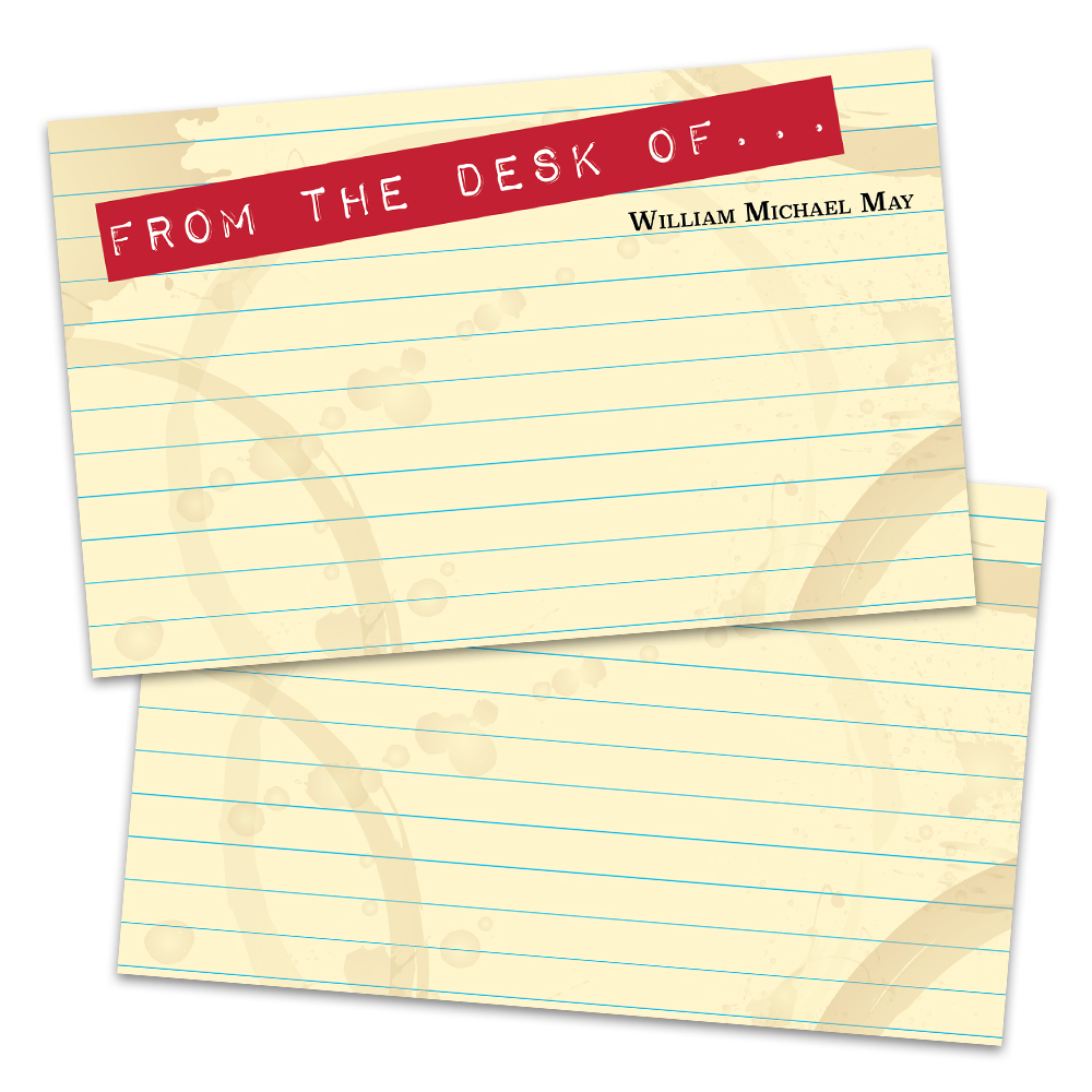 Personalized Legal Pad Flat Note Cards