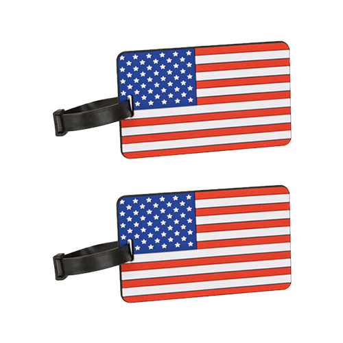 Travelon American Flag Luggage Tag Assorted Colors-2-Pack Flag Tag