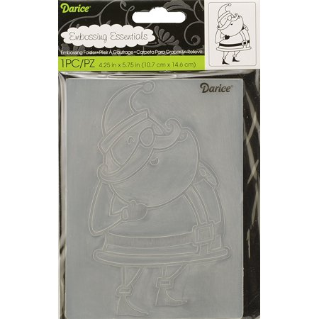 Darice 1219-422 Embossing Folder Santa Claus Paper Craft Supply