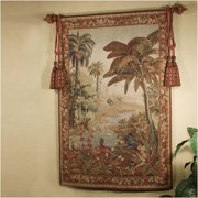 Tapestries, Ltd. Abusson Hand-woven River Palms Tapestry