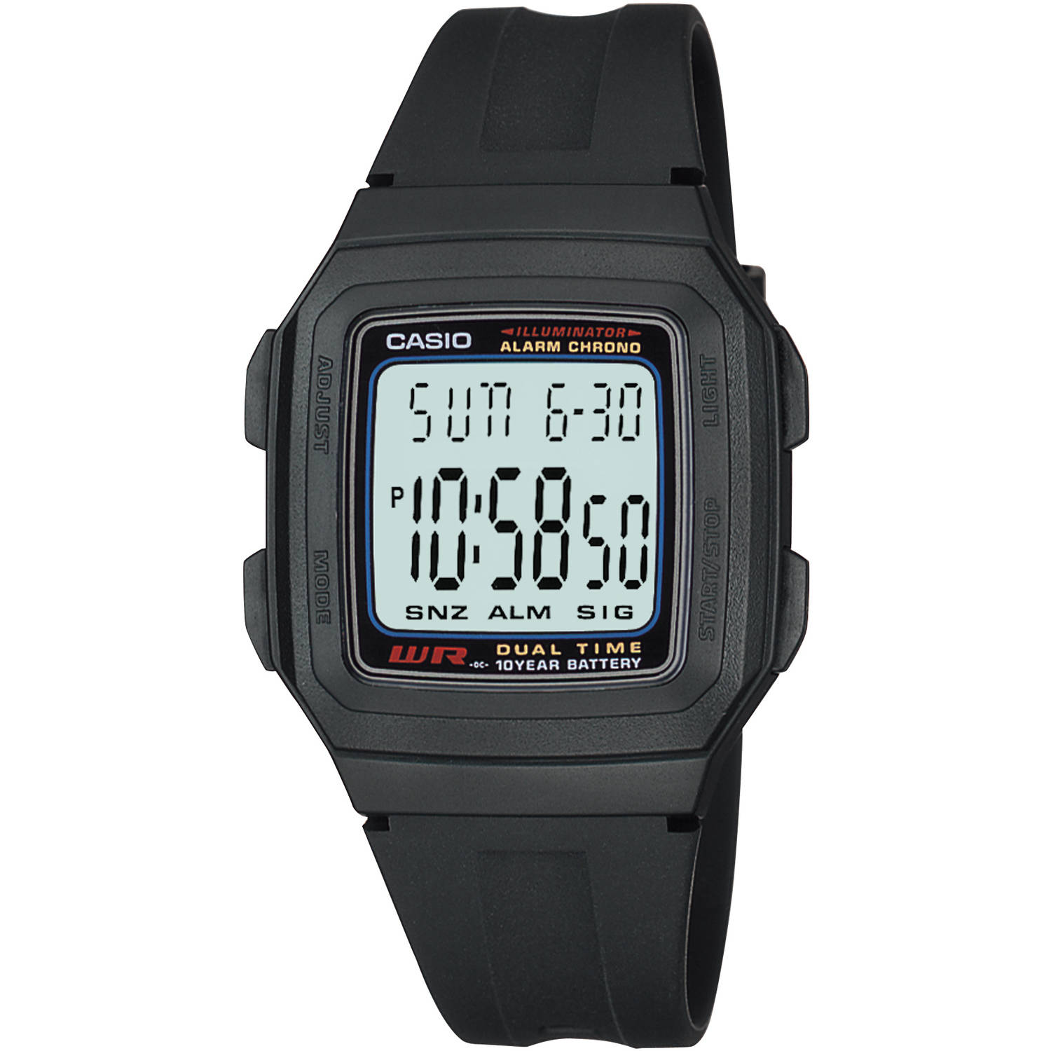 Casio Men's Digital Sport Watch, Black Resin Strap