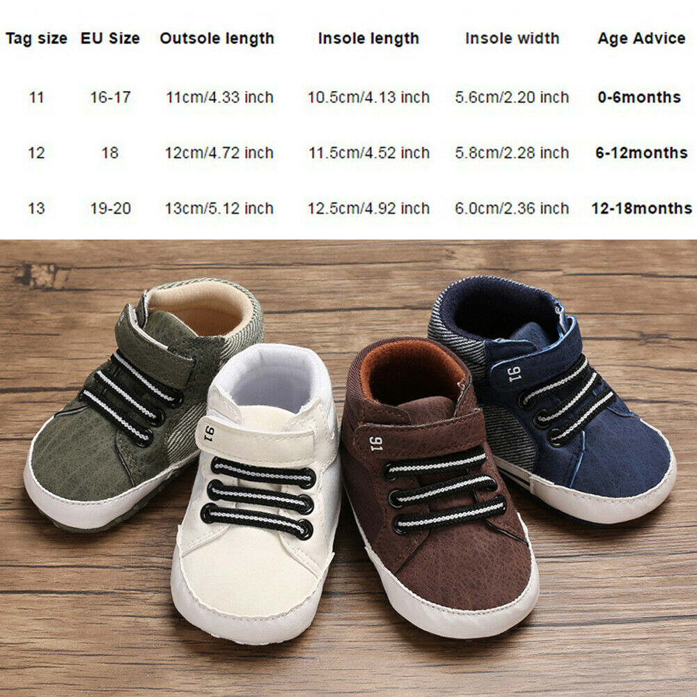 Newborn Baby Boy Girl Booties Soft Canvas Shoes Children/'s Footwear Sneakers