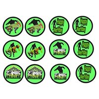 12 Nerf Zombie Strike Image Sheets Cupcake and Cookie Toppers