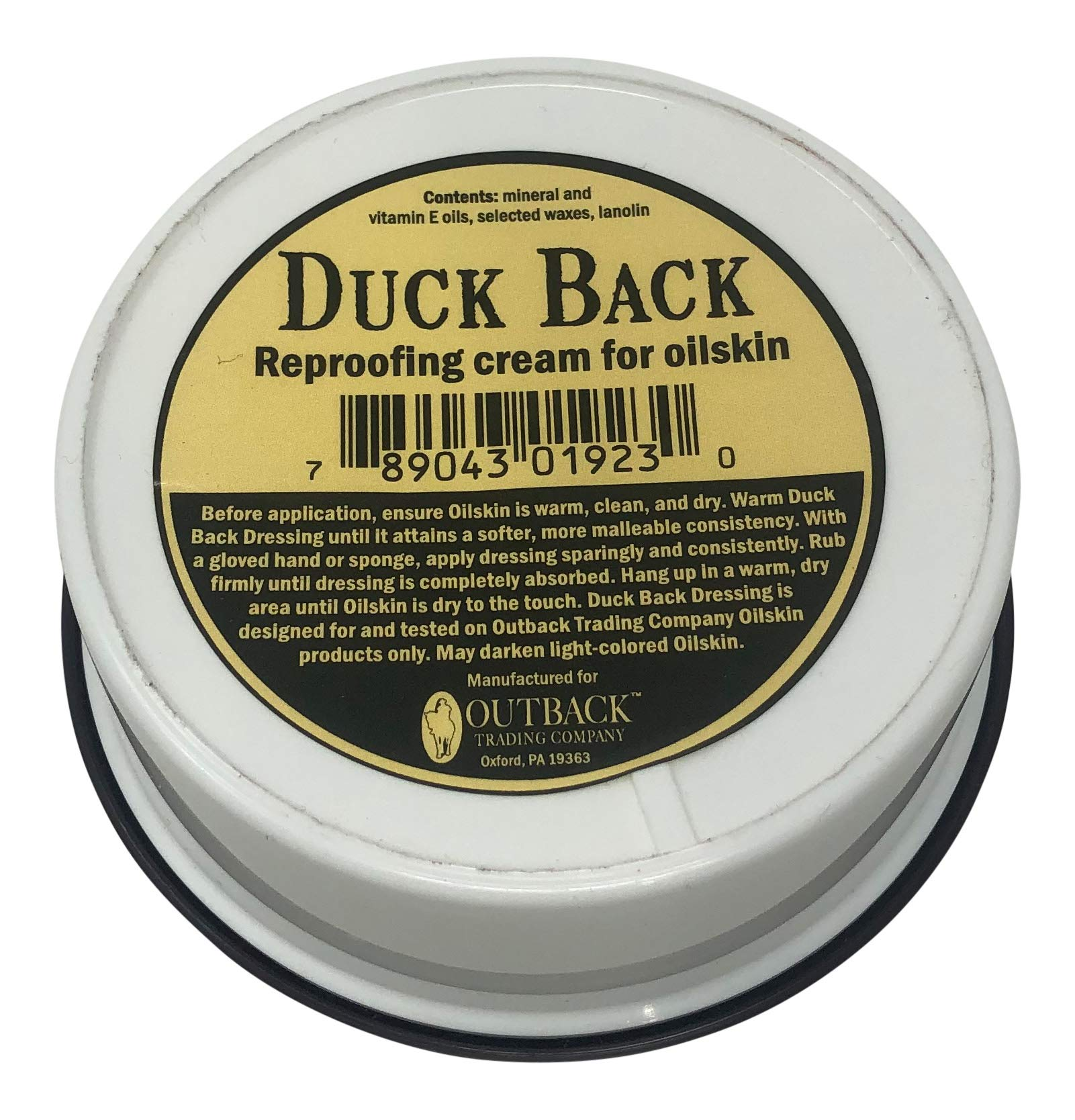 Outback Trading Company Duck Back Oilskin Reproofing Cream 6 OZ 2-count