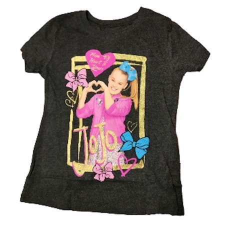 JoJo Siwa from My Heart to Yours Girls Gray Tee (X-Large