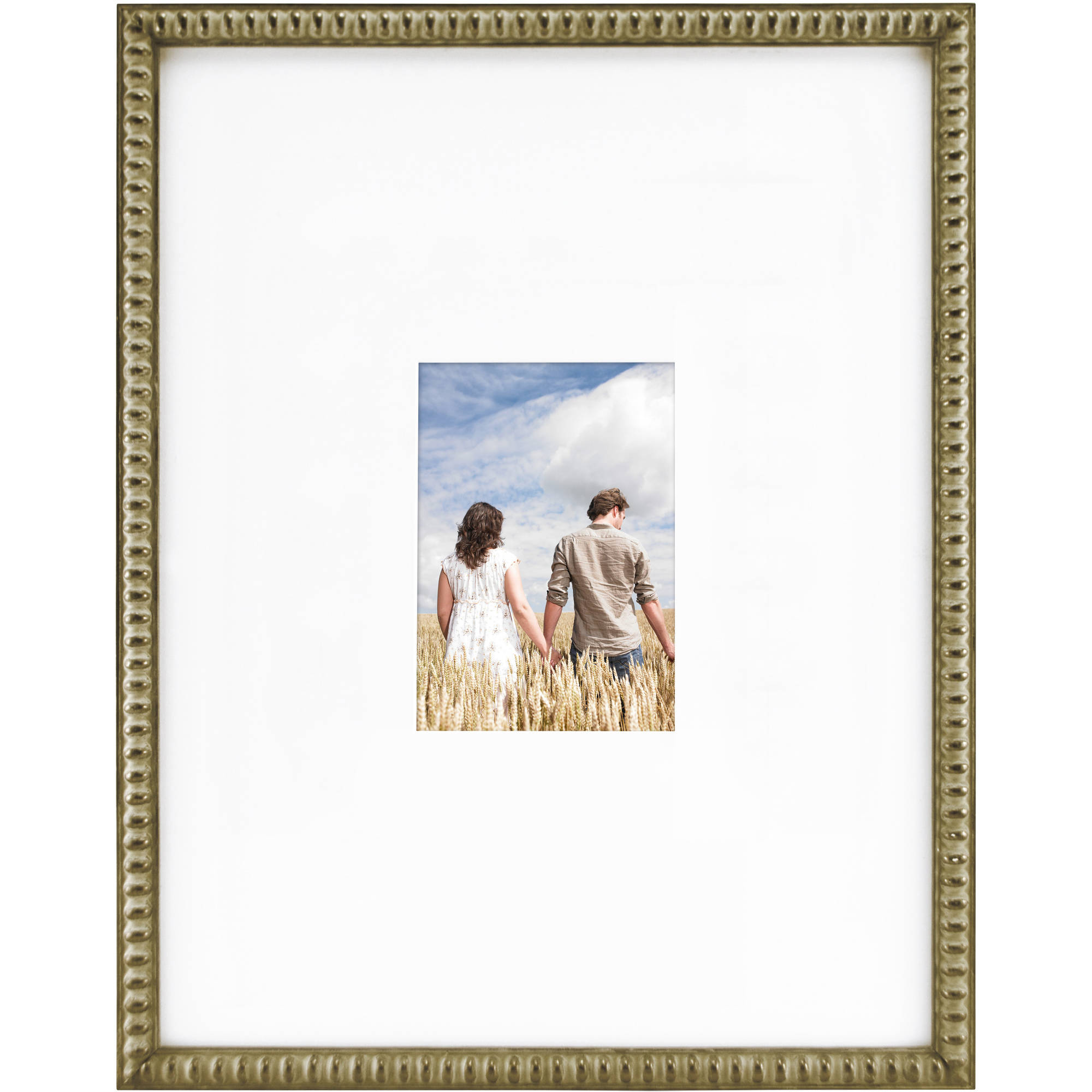 "Mainstays Signature Frame, 14"" x 18"", Matted to Fit 5"" x 7"" Pictures, Available in Multiple Colors"