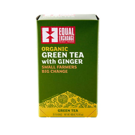 Equal Exchange Organic Green Tea Bags with Ginger, 20 - Organic Ginger Tea Bags