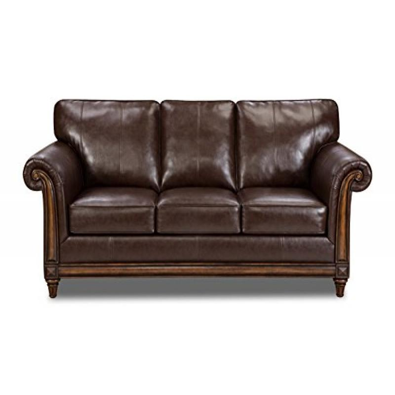 Simmons Upholstery 8001 03 San Diego Coffee Bonded Leather Sofa