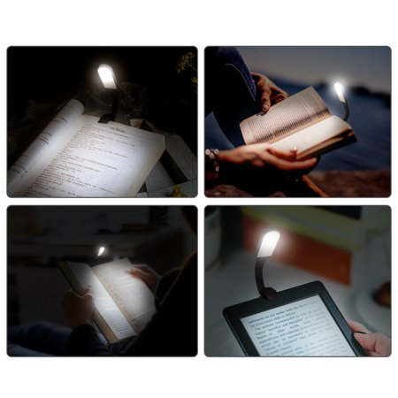 Flexible LED Dimmable Eye-Protection Touch Sensor Light Reading Book Clip Lamp - image 6 de 7