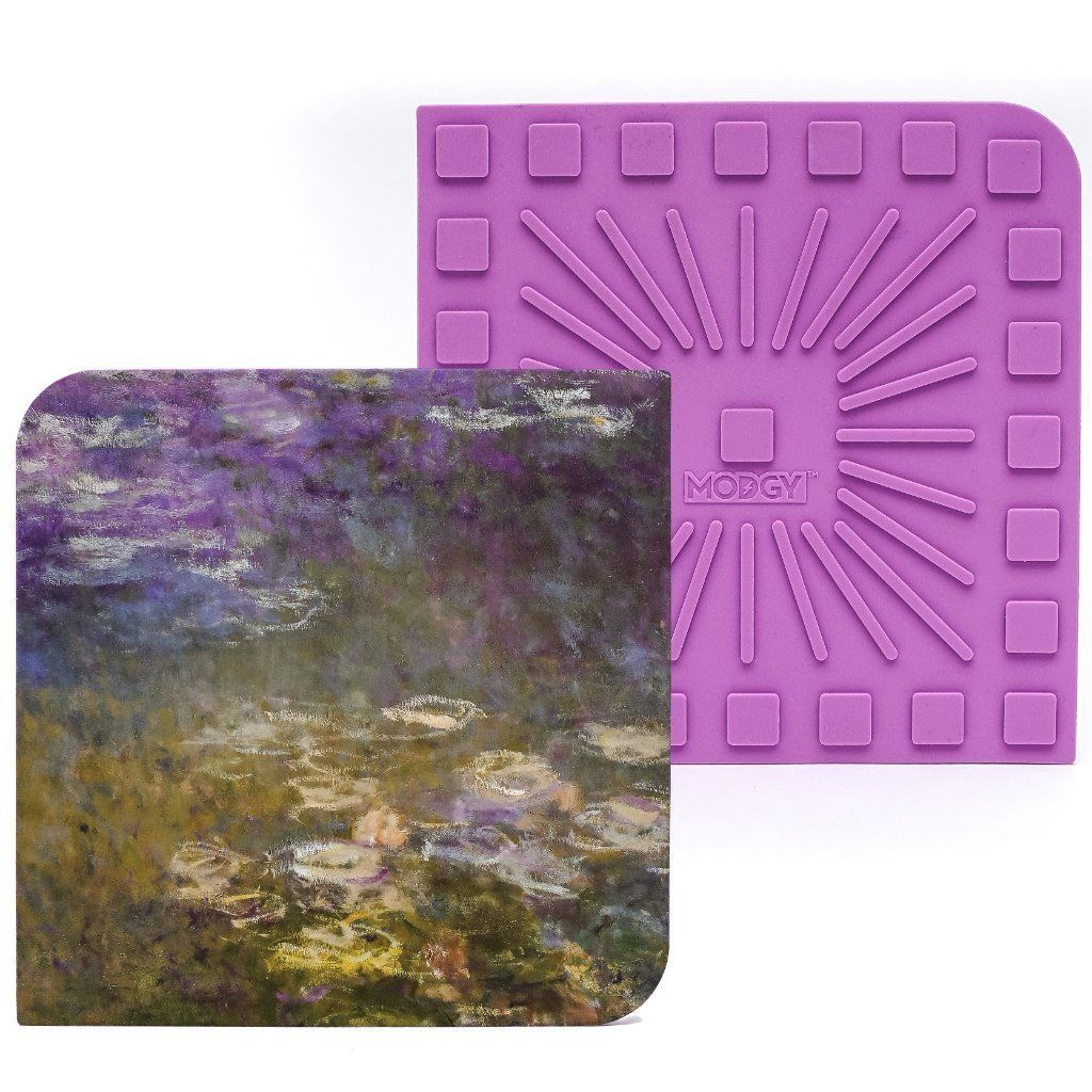 "Modgy Silicone 8"" x 8"" Trivet / Hot Pad - Claude Monet Water Lilies"