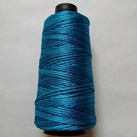 PEACOCK BLUE - 170+ Yards - Viscose Rayon Art Silk Thread Dori Yarn - Embroidery Crochet Knitting Lace Jewelry Trim