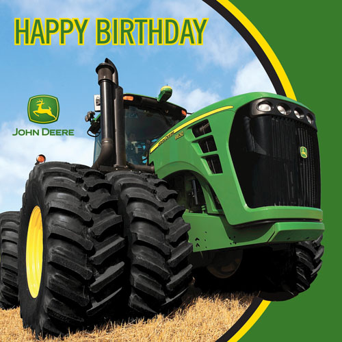 John Deere Tractor 'Happy Birthday' Lunch Napkins (16ct)