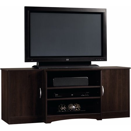 Sauder Beginnings Cinnamon Cherry Entertainment Credenza for TVs up to 42″