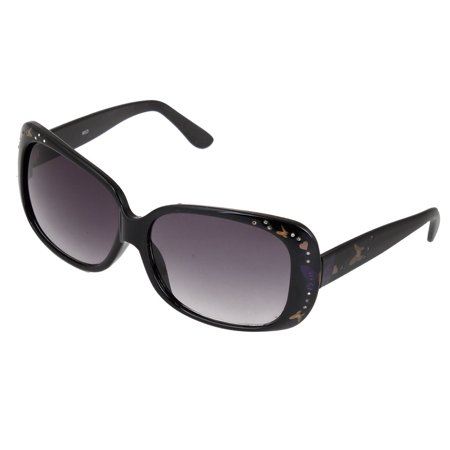 Ladies Black Frame Glasses : Ladies Black Plastic Full Rim Frame Square Lens Sunglasses ...