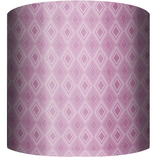 "10"" Drum Lamp Shade, Purple Pattern"