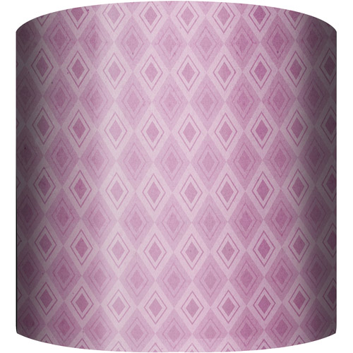 "10"" Drum Lamp Shade, Purple Pattern"
