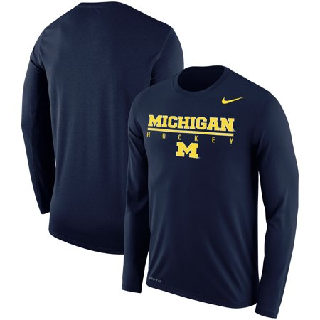 Michigan Wolverines Nike Hockey Drop Legend Performance Long Sleeve T-Shirt - Navy