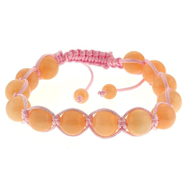 10mm Round Orange Color Adjustable Bracelet