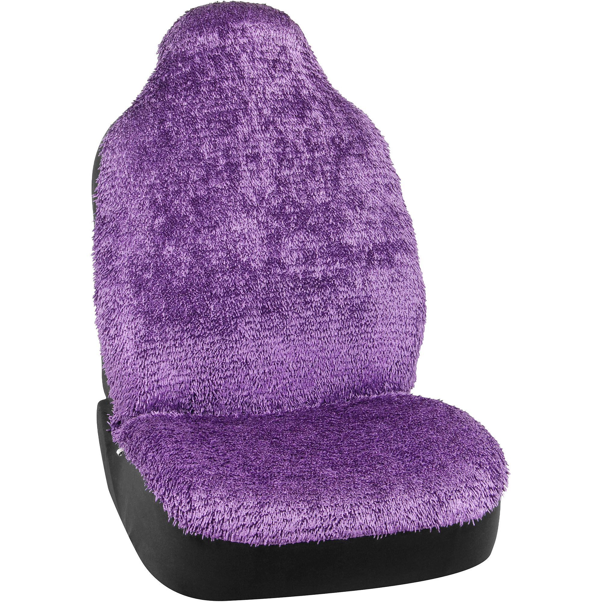 Auto Drive Shiny Shaggy Purple Seat Cover
