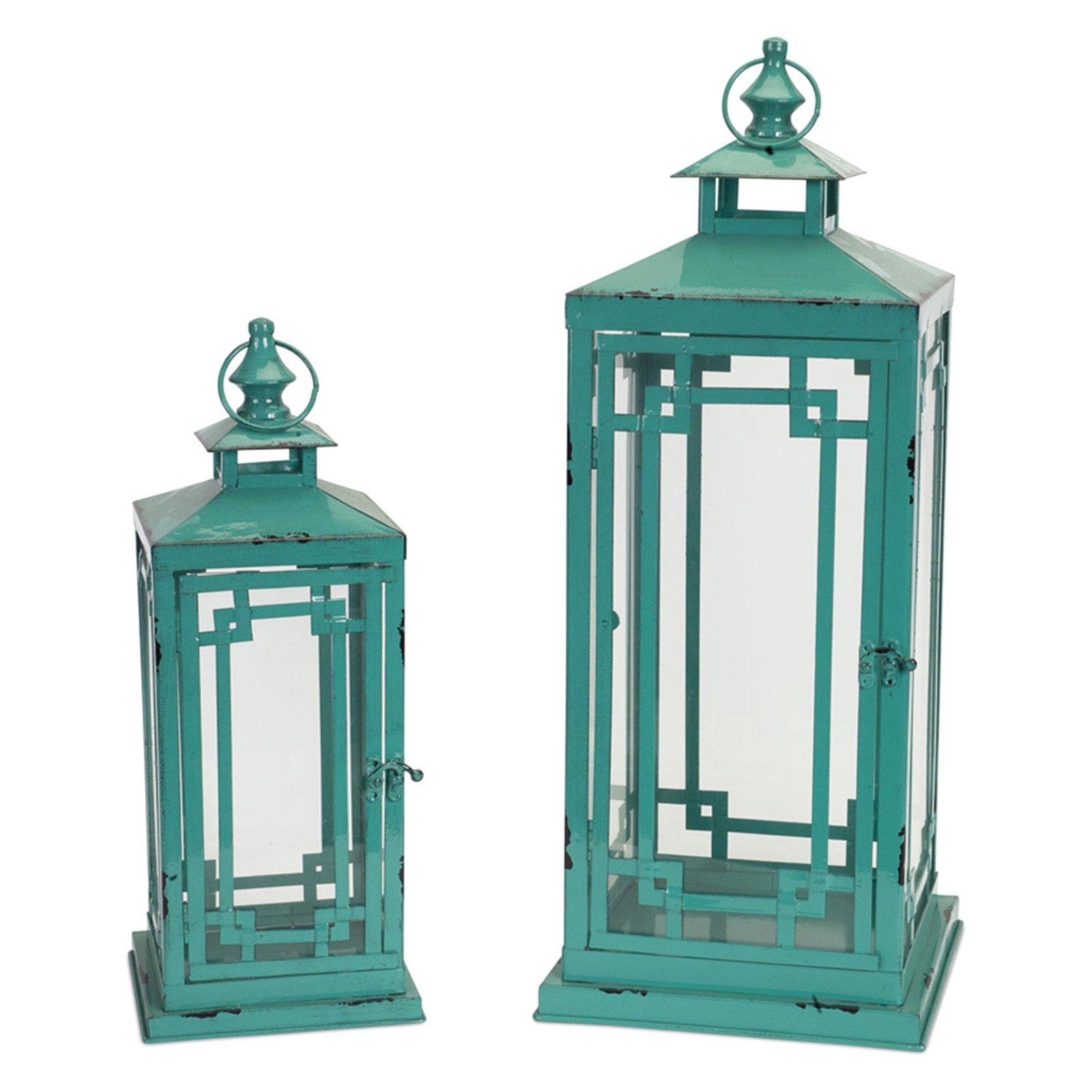 Melrose International Modern Lantern - Set of 2