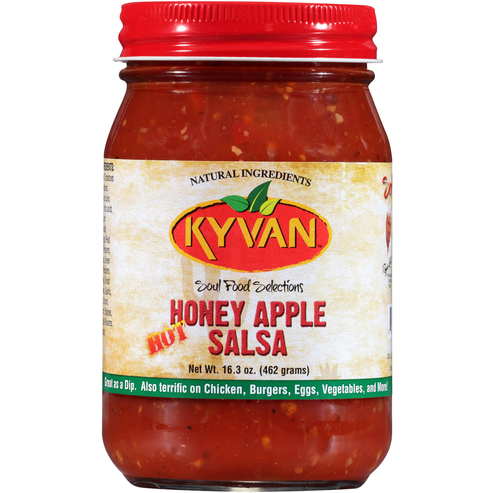 (2 Pack) Kyvan Honey Apple Hot Salsa, 16.3 oz