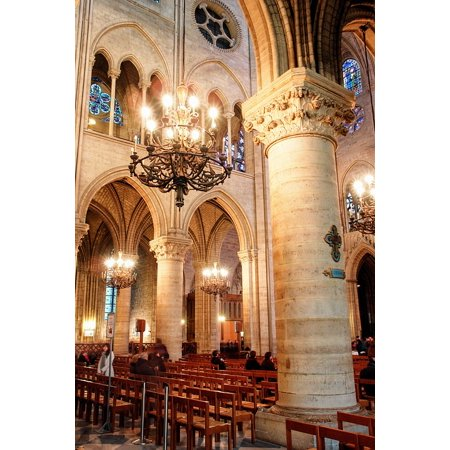 Peel-n-Stick Poster of Interior Cross Church Detail France ParisPoster 24x16 Adhesive Sticker Poster (French Cross)