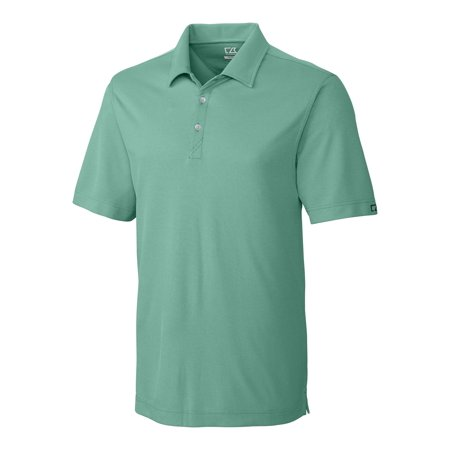 White Drytec Performance Polo (Cutter & Buck Men's Big and Tall CB DryTec Blaine Oxford Polo, Loft/White - S)