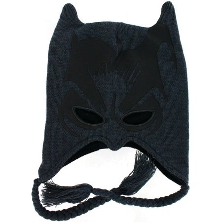 The Dark Knight Batman Peruvian Instarsia Hat with Ears - Peru Halloween