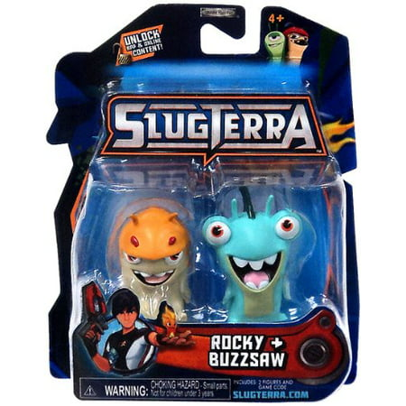 Slugterra Mini Figure 2-Pack Rocky & Buzzsaw [Includes Code for Exclusive Game Items] ()