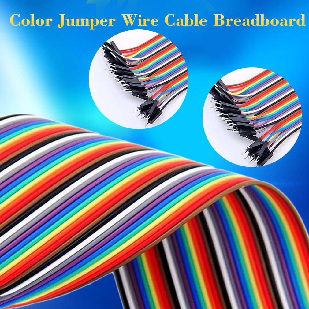 40 Pin Spacing Pin Headers 20cm WITH 2.54mm Color Jumper Wire Cable Breadboard