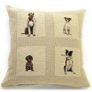 Corona Dcor Corona Decor 'Best Friends' Dog Design 18-inch Throw Pillow
