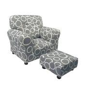 Brighton Home 1960FS Freehand Storm Grey CottonPrintKid Chair & Ottoman Set
