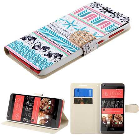 For HTC Desire 626 626S MyJacket Wallet +Diamond Bling Belt Cover Case ()