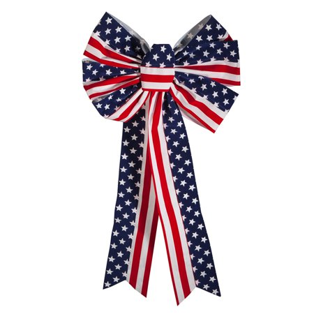 Stars and Stripes Patriotic Indoor/Outdoor Bow