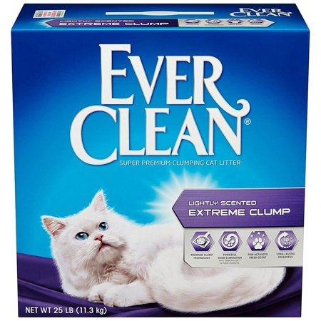 Extra Strength Cat Litter, Scented Litter, 25 Pound Box, Fresh Scented bag 25Pound Premium Strong 154 Activated Bags Lbs Dog Ever Clay Leak.., By Ever Clean Ship from US (Cat Box Bag)