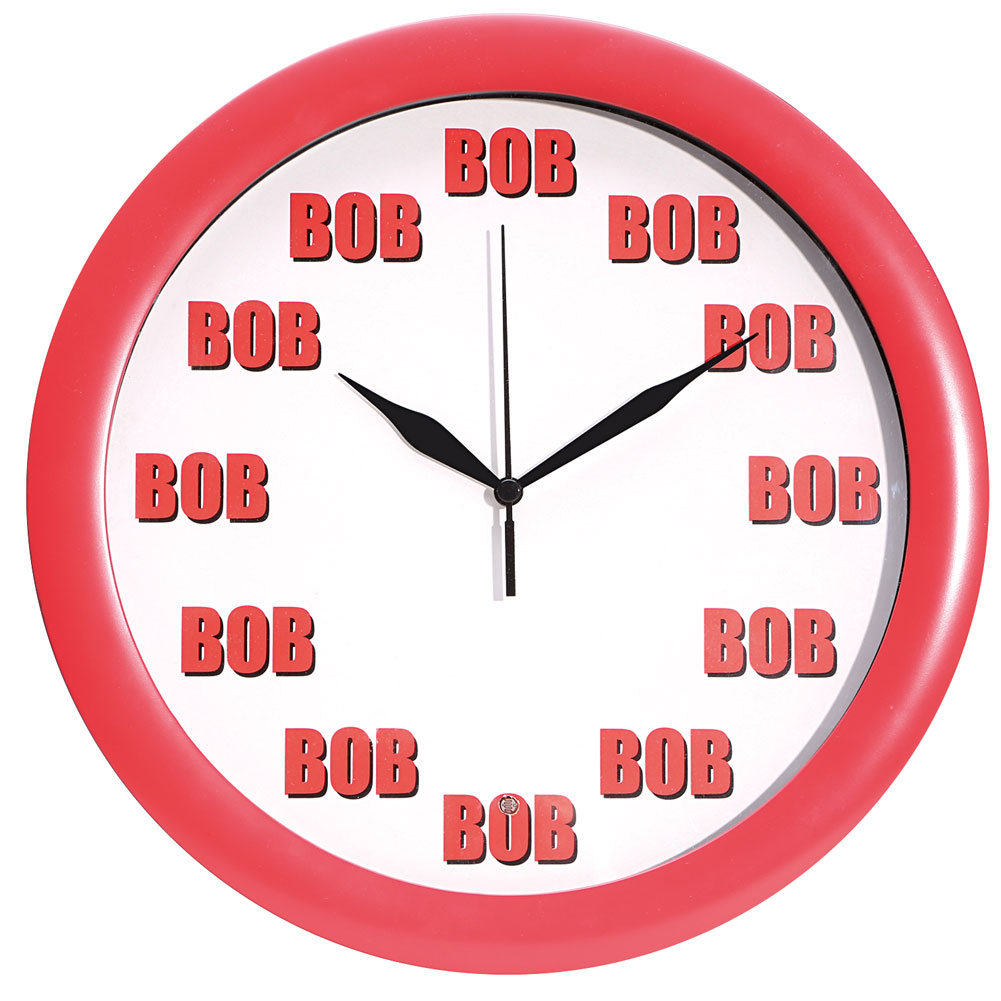 Funny Talking Bob Wall Clock - Exclusive From What On Earth