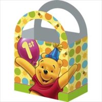 Winnie the Pooh Balloon 1st Birthday Favor Boxes (4ct)