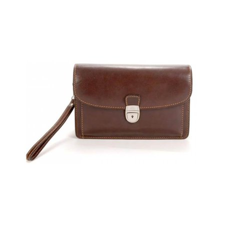 Veneto Leather Horizontal Flap-Over Carry All Bag Bellino Flap Over Briefcase