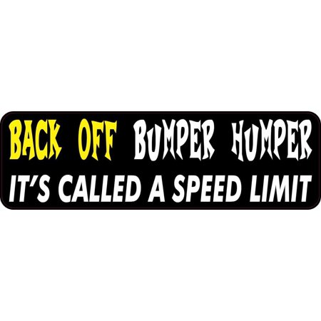 10inx3in Yellow White Back Off Bumper Humper Magnet Speed Limit Vinyl (Yellow Speed Limit Signs)