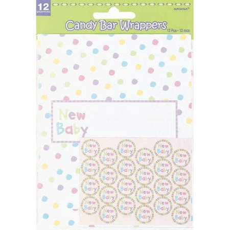 Baby Shower 'New Baby' Candy Bar Wrapper Kit (1ct) (Bar Baby)