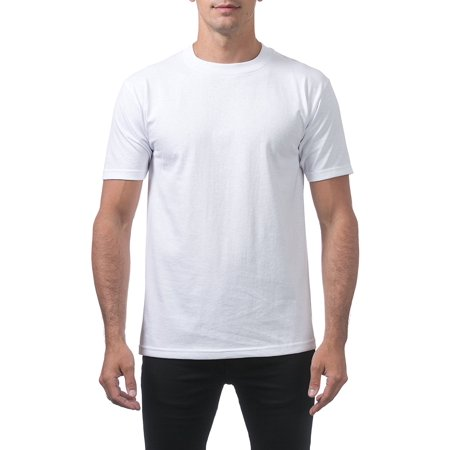 Pro Club Men's Comfort Cotton Short Sleeve T-Shirt, Small, Snow White