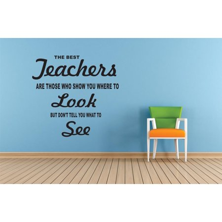 The Best Teachers Are Those Who Show You Where To Look But Dont Tell You What To See Quote Custom Wall Decal Vinyl Sticker Classroom Art Lettering 12 Inches X 18
