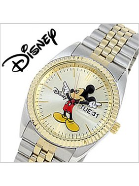 Man's Mickey Mouse Watch Gold and Silver MCK339