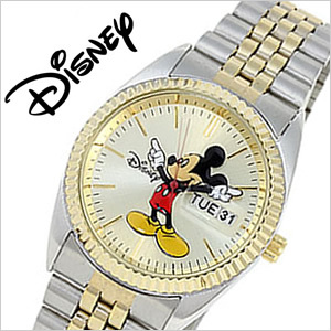 Man's Disney Mickey Mouse Disney Watch Gold and Silver  M...