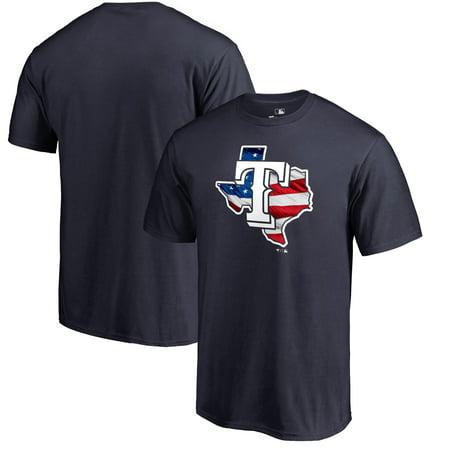Texas Rangers Fanatics Branded 2019 Stars & Stripes Banner State T-Shirt - (Best Fishing In Texas 2019)